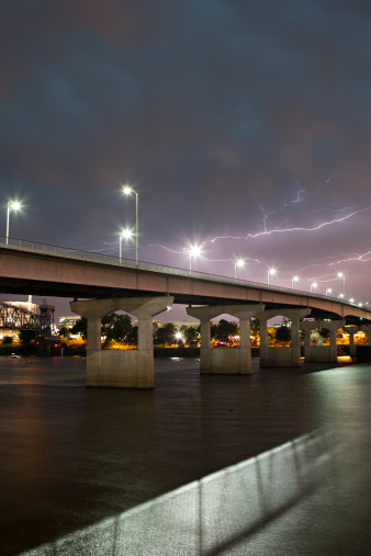 アーカンソー川「Lightning over Main Street Bridge, Arkansas River」:スマホ壁紙(12)
