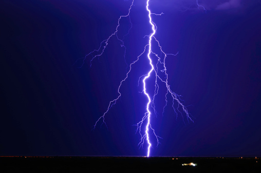 Thunderstorm「Lightning over Tonopah, Arizona, America, USA」:スマホ壁紙(17)