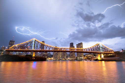 Thunderstorm「Lightning over Brisbane」:スマホ壁紙(18)