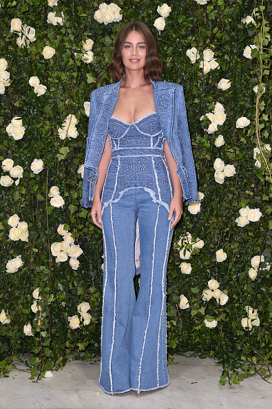 Double Denim「Balmain : Arrivals - Paris Fashion Week Womenswear Spring/Summer 2018」:写真・画像(2)[壁紙.com]