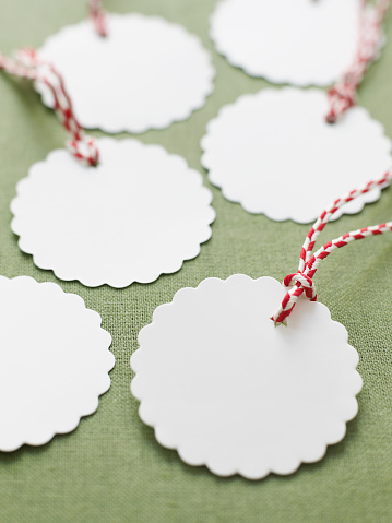 Scalloped - Pattern「Blank Scalloped Gift Tags」:スマホ壁紙(14)