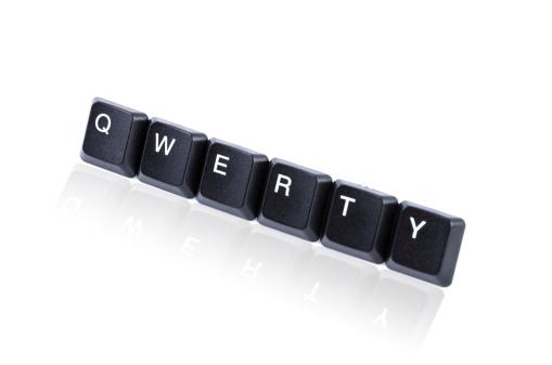 Computer Keyboard「Qwerty keys with reflection」:スマホ壁紙(9)