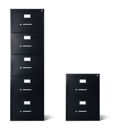 Five Objects「Tall and Short Black Filing Cabinets Isolated」:スマホ壁紙(19)