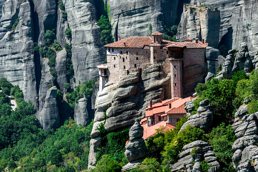 Thessaly「Roussanou Monastery in Meteora, Greece」:スマホ壁紙(18)