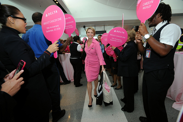 "Kennedy Airport「Delta Charters ""Breast Cancer One"" Flight With Good Morning America's Amy Robach」:写真・画像(6)[壁紙.com]"