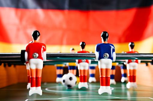 Soccer Uniform「Playing for Germany: foosball game against German national flag.」:スマホ壁紙(8)