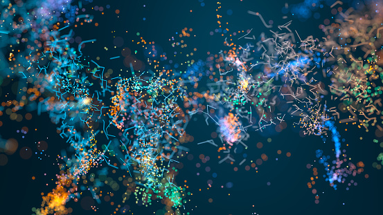 Chemical「Abstract particle background」:スマホ壁紙(9)