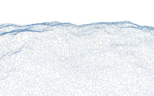 Rolling Landscape「Abstract particle landscape」:スマホ壁紙(12)
