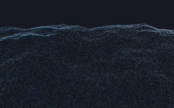 Abstract particle landscape:スマホ壁紙(壁紙.com)