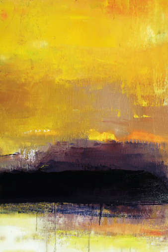 Oil Painting「Abstract painted yellow art backgrounds.」:スマホ壁紙(13)