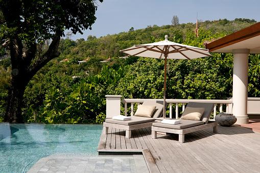 サンシェード「ヴィラのリゾートは、プーケットのホテルのプール」:スマホ壁紙(19)