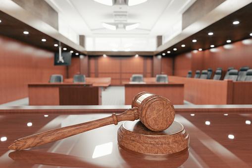 USA「Courtroom And Gavel」:スマホ壁紙(1)