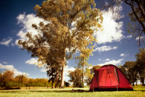 Buenos Aires「Red tent on a field, Capilla Del Senor, Buenos Aires, Argentina」:スマホ壁紙(0)