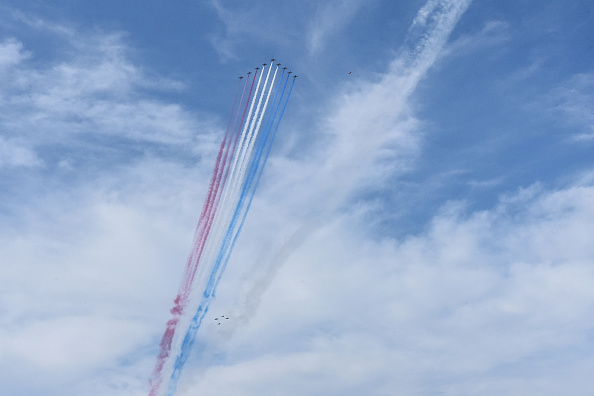 USAF「Royal Air Force Red Arrows Join The U.S. Air Force Thunderbirds For NYC Flyover」:写真・画像(7)[壁紙.com]