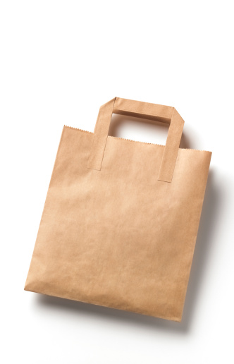 Environmental Conservation「Disposable brown paper bag with cope space」:スマホ壁紙(10)
