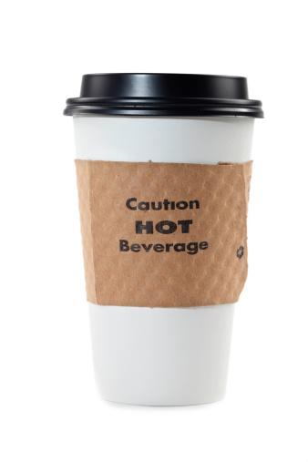 コーヒー「使い捨てコーヒーカップ白で分離」:スマホ壁紙(15)