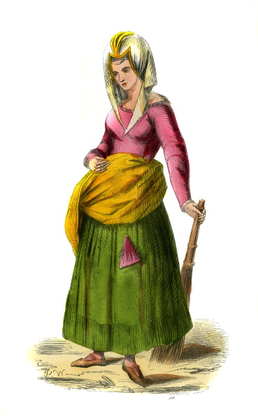 Circa 15th Century「Dutch peasant - female costume from 15th century」:写真・画像(11)[壁紙.com]
