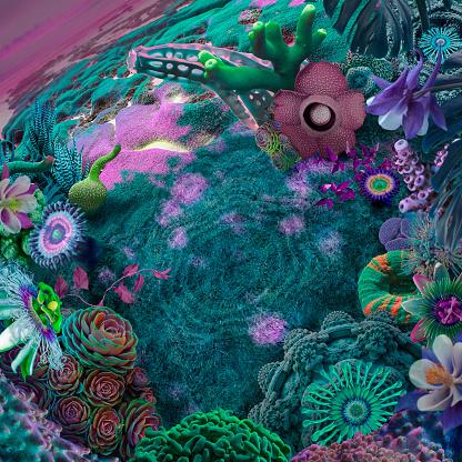 Imagination「surreal garden background」:スマホ壁紙(9)