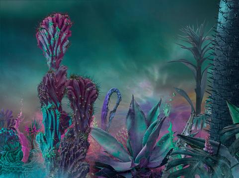 Fantasy「surreal garden background」:スマホ壁紙(2)