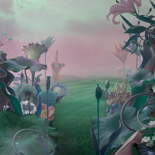 surreal garden background:スマホ壁紙(壁紙.com)