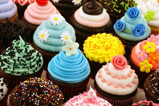 カップケーキ「各種のケーキ」:スマホ壁紙(5)