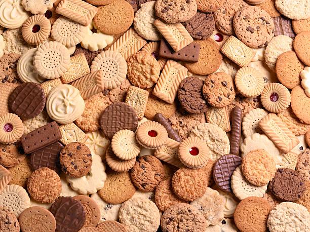 Assortment of cookies, full frame:スマホ壁紙(壁紙.com)