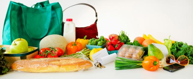 豊富「Assortment of groceries, studio shot」:スマホ壁紙(12)