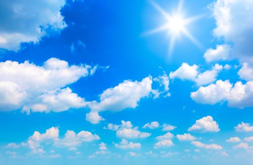 雲「太陽、雲」:スマホ壁紙(11)