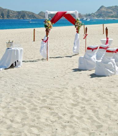 結婚「ビーチでのウェディング」:スマホ壁紙(19)