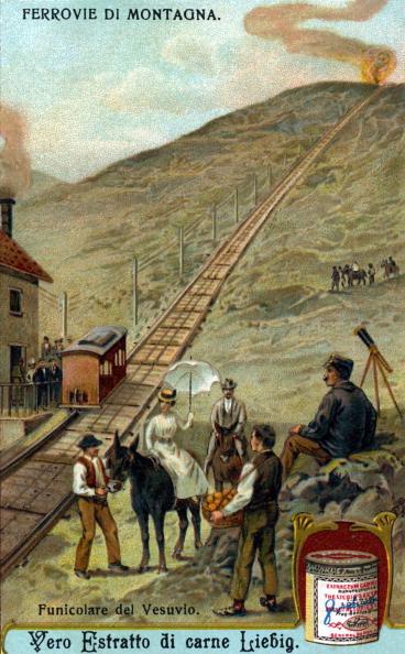 Tourism「Funicular railway on Mount Vesuvius, Gulf of Naples」:写真・画像(1)[壁紙.com]
