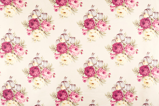 Floral Pattern「Bed of Roses Floral Antique Fabric」:スマホ壁紙(0)