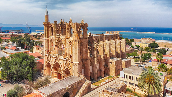 Republic Of Cyprus「Lala Mustafa Pasha Mosque (Cathedral of Saint Nicholas) in Gazi Magosa (Famagusta), Cyprus」:スマホ壁紙(5)
