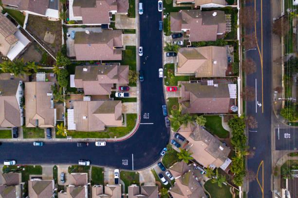 Aerial Drone Shot of Suburban Sprawl - Orange California:スマホ壁紙(壁紙.com)