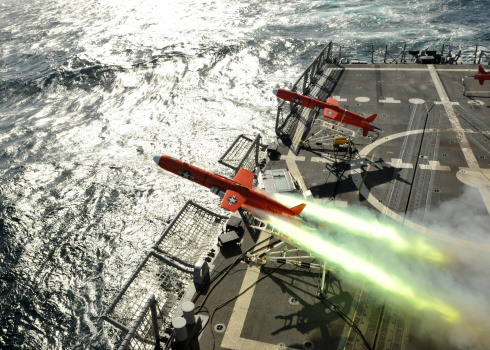 Air Attack「A BQM-74E aerial drone launches from the guided-missile frigate USS Thach.」:スマホ壁紙(5)