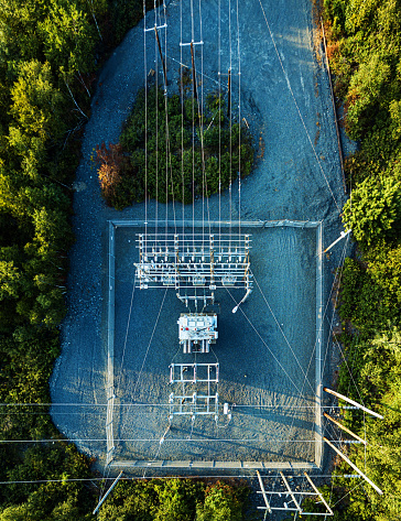 Electricity Pylon「Aerial Drone View: Power Sub Station」:スマホ壁紙(6)