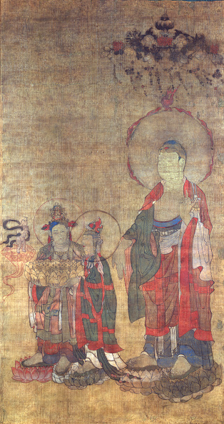 Tanka「Greeting The Righteous Man On The Way To The Pure Land Of Amitabha (Thangka)」:写真・画像(1)[壁紙.com]