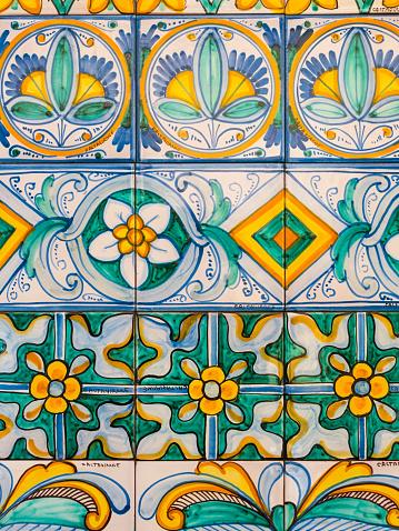 Sicily「Italy, Sicily, Caltagirone, majolica at the staircase Santa Maria del Monte」:スマホ壁紙(11)