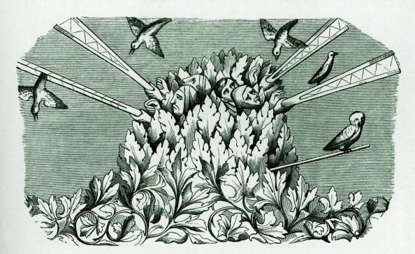 Circa 14th Century「Medieval bird hunting」:写真・画像(4)[壁紙.com]