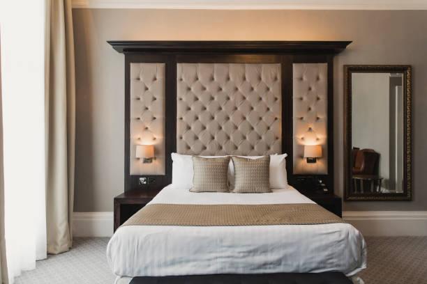 Double Bed in Hotel:スマホ壁紙(壁紙.com)