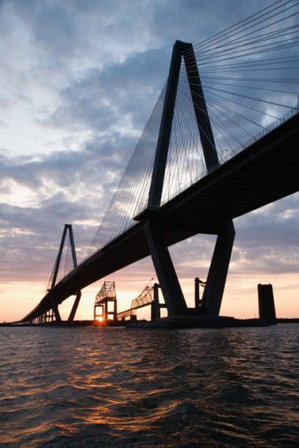 Charleston - South Carolina「Arthur Ravenel Jr. Bridge, Charleston, South Carolina」:スマホ壁紙(11)