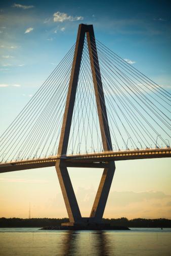 Charleston - South Carolina「Arthur Ravenel Jr. Bridge」:スマホ壁紙(2)