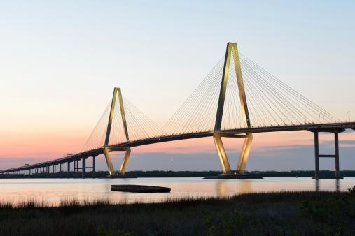 Charleston - South Carolina「Arthur Ravenel Jr Bridge at Sunset」:スマホ壁紙(15)