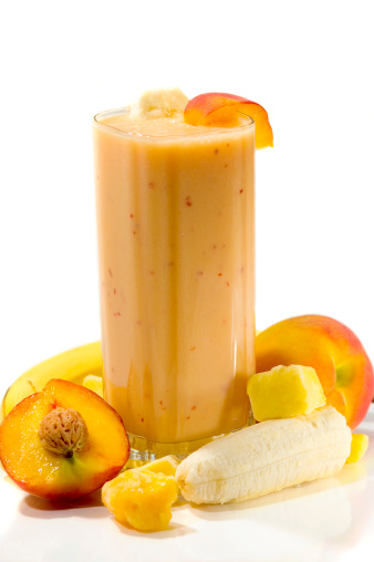 Multiple Exposure「An exotic smoothie with apricots, mangos, and bananas」:スマホ壁紙(0)