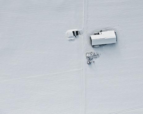 Agricultural Building「Farm, aerial view」:スマホ壁紙(19)