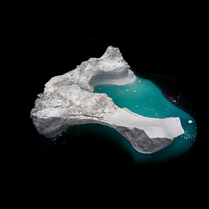 The Nature Conservancy「Iceberg in Eriksfjord Greenland view from above.」:スマホ壁紙(13)