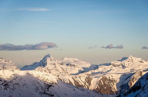スノーボード「スイス アルプスの夕日」:スマホ壁紙(6)