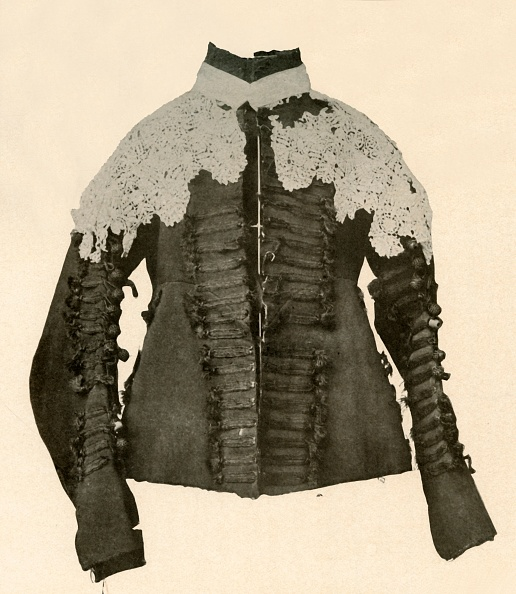 White Background「Doublet Of Black Cloth Trimmed With Silk Braid And Crochet Buttons」:写真・画像(18)[壁紙.com]