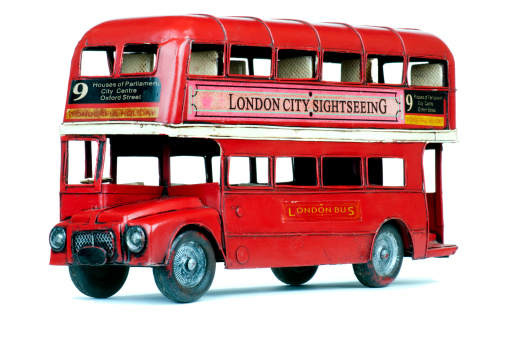Double-Decker Bus「Antique London double decker bus tin toy」:スマホ壁紙(16)