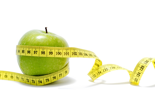 Weight Training「A measuring tape around a Granny Smith Apple isolated」:スマホ壁紙(4)