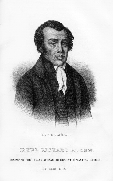 Methodist「Richard Allen, African American founder of the African Methodist Episcopal Church, (1854).」:写真・画像(8)[壁紙.com]